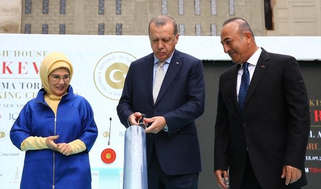 Erdoğan, New York'ta Türkevi'nin Temelini Attı