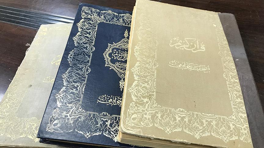 Filistin camisinde Abdulhamid döneminde basılan Kur'an-ı Kerimler bulundu