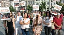Tutuklu akademisyenler için Fransa'da dayanışma mitingi yapıldı