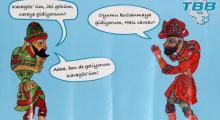 Almanya'da Türklerin seçime katılımını arttırmak için Hacivat Karagözlü kampanya
