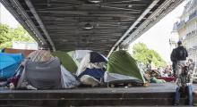 Paris'teki sığınmacıların bulunduğu kamp boşaltıldı