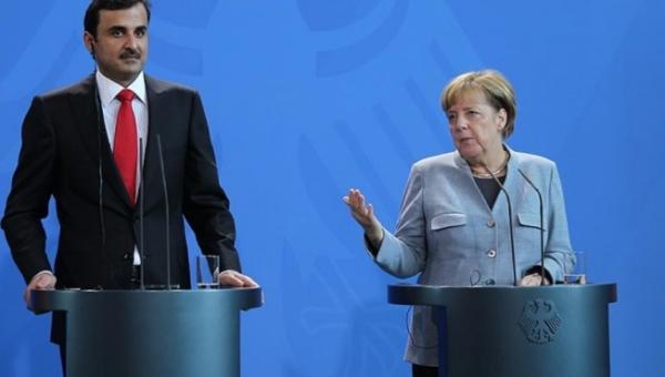 Merkel ve Katar Emiri Görüştü