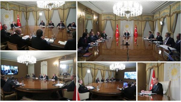 Erdoğan'ın liderlerle 4'lü video konferansı