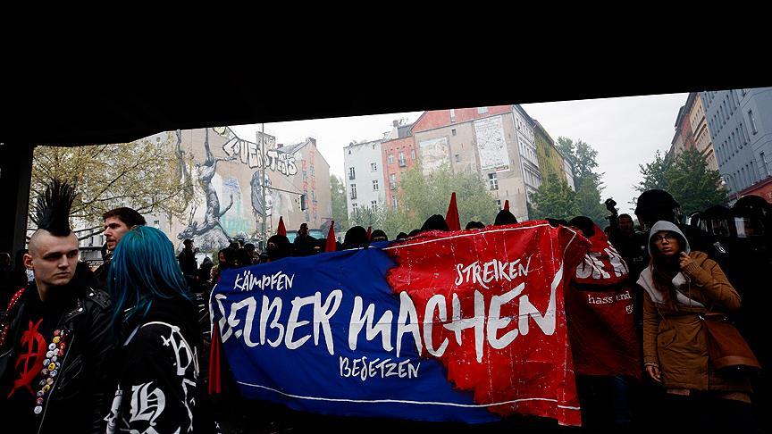 Almanya'da 1 Mayıs gösterilerinde olaylar çıktı