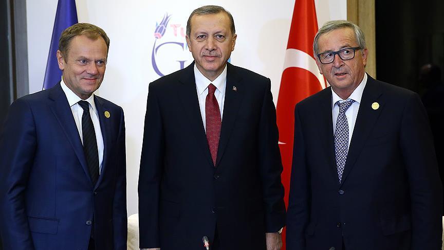 Erdoğan, Juncker ve Tusk'la görüşecek