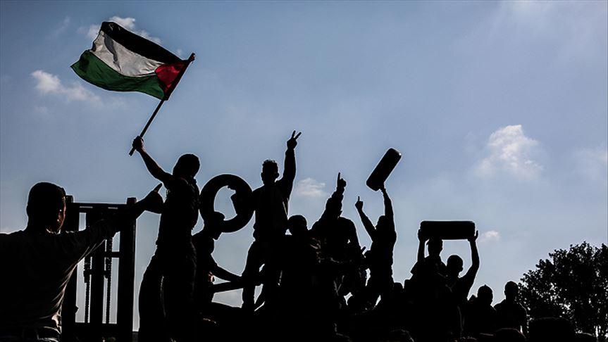 Milyonluk yürüyüş Filistinlilerin haklarına bağlılığını vurguluyor