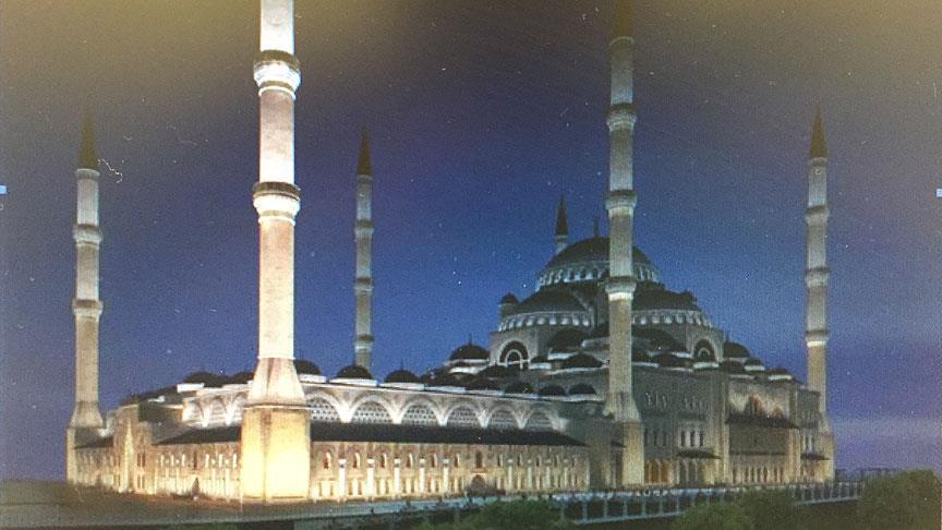 Çamlıca Camisine yakışır 3 boyutlu aydınlatma