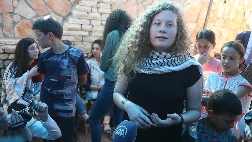 Filistinli cesur kız Ahed et-Temimi
