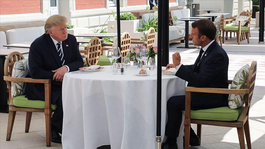 Macron ve Trump bir arada
