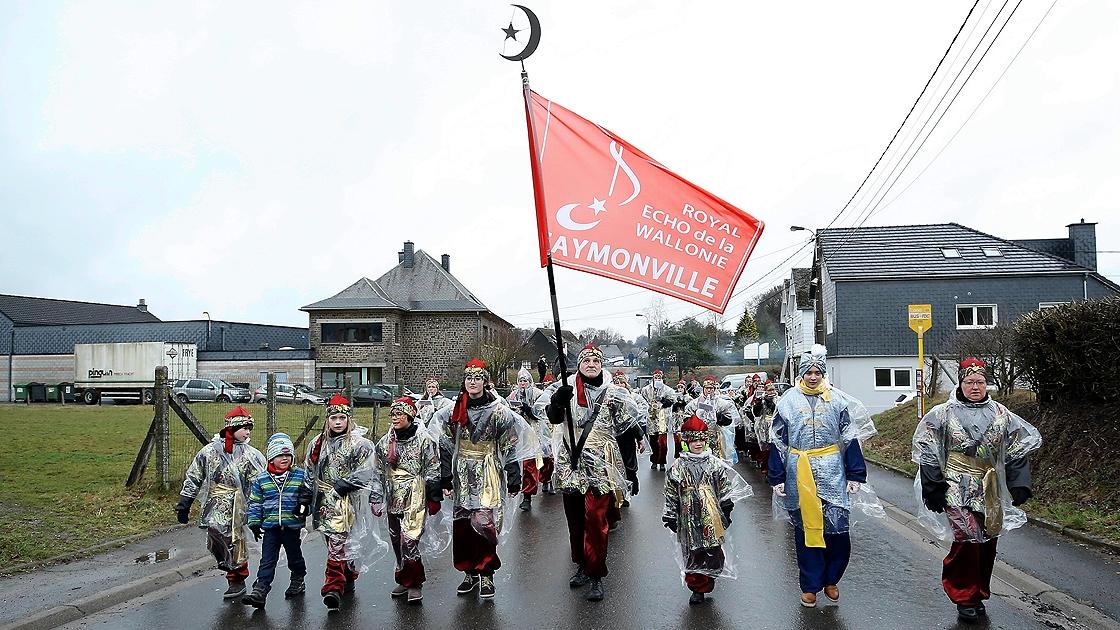Belçika'nın 'Türk köyü'nde karnaval coşkusu