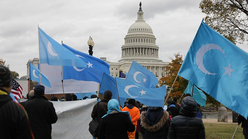 Uygur Türkleri Washington protestosu