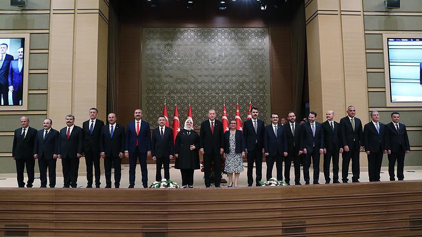 Erdoğan kabinesini açıkladı