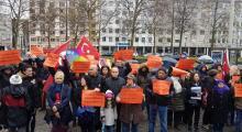 CHPNürnberg Birliği'nden referandum protestosu