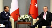 Erdoğan, Macron Barış Pınarı istişaresi