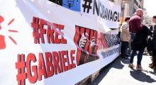 Türkiye'de 13 gündür gözaltında tutulan Gabriele Del Grande için İtalya'da destek eylemleri yapıldı