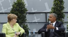 Merkel ve Obama Berlin'de panele katıldı