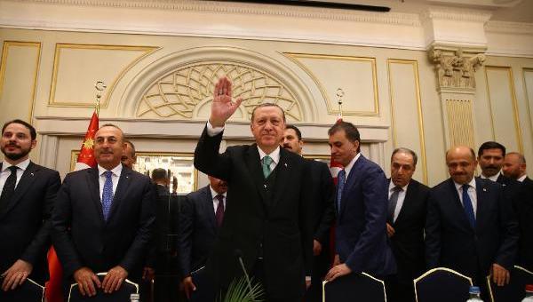 Erdoğan, Avrupalı Türk Demokratlar Birliği heyetiyle buluştu
