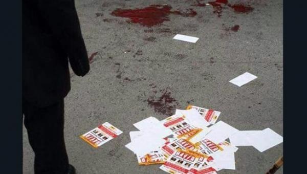 Ümraniye'de 'Hayır' çalışması yapan gruba bıçaklı saldırı