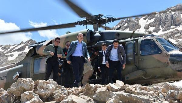 İçişleri Bakanı Soylu, Kato Dağı'nda operasyon bölgesinde