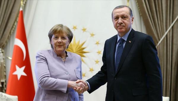 Erdoğan ile Almanya Başbakanı Merkel görüşmesi