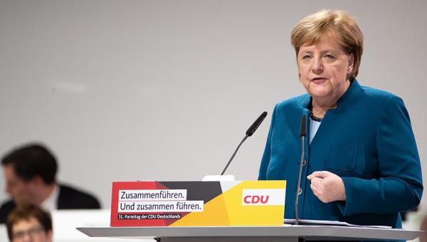 Merkel, CDU genel başkanı olarak son kez konuştu