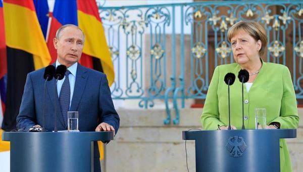 Suriye meselesinde Putin ile Merkel