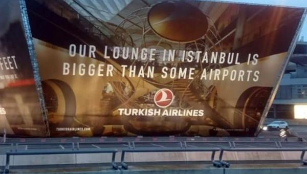 THY'nin Tegel Havalimanı'ndaki reklamı Almanları çıldırttı