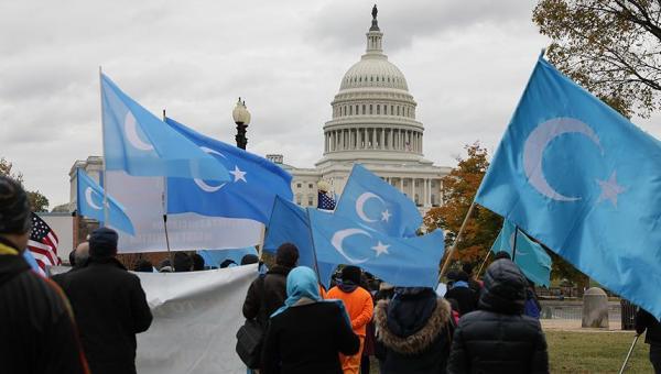 Uygur Türkleri Washington protestosu